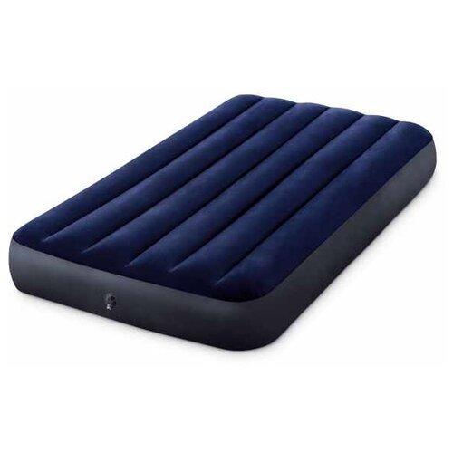Фото - Надувной матрас Intex Classic Downy Airbed (64757) синий надувной матрас intex mid rice airbed 64116 светло темно серый