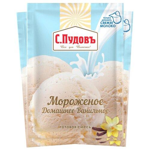 Смесь для мороженого С.Пудовъ Мороженое Домашнее Ванильное 3 шт. по 70 г