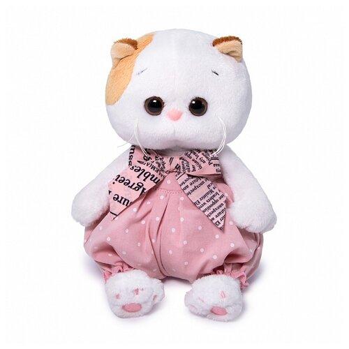 Купить Мягкая игрушка Basik&Co Кошка Ли-Ли Baby в песочнике в горошек 20 см, Мягкие игрушки