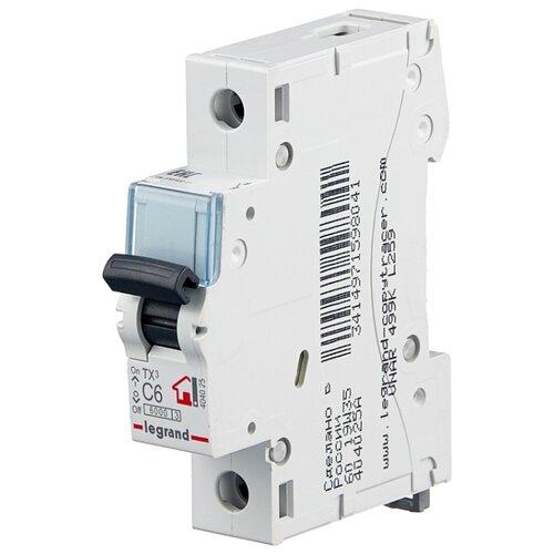 Автоматический выключатель Legrand TX3 1P (C) 6kA 6 А