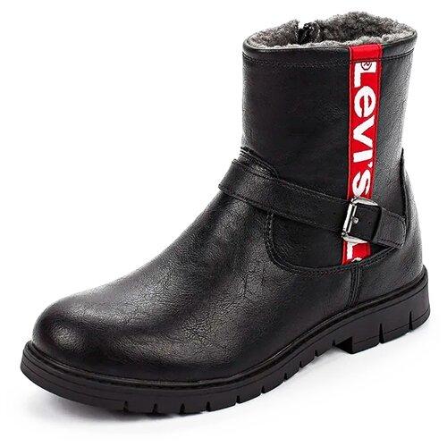 Ботинки Levi's размер 37, черный ботинки tapiboo размер 30 черный