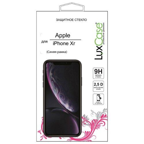 Защитное стекло LuxCase 2.5D FG для Apple iPhone Xr синий стекло защитное rockmax iphone xr 3d черная рамка