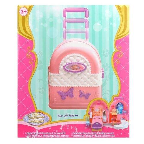 Купить Наша игрушка кукольный домик 830A, розовый/белый/фиолетовый, Кукольные домики