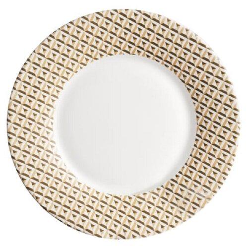 Luminarc Тарелка десертная Loft Abacco 22 см бежевый/белый luminarc тарелка десертная lavender 19 см белый