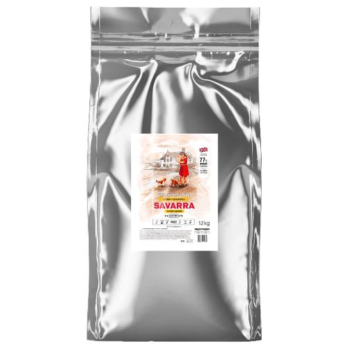 Фото - Сухой корм для котят SAVARRA для, гипоаллергенный, с индейкой, с рисом 12 кг сухой корм для щенков savarra индейка с рисом 3 кг