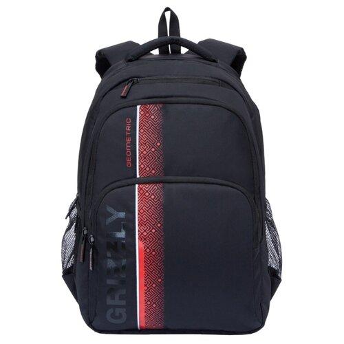 Рюкзак Grizzly RU-934-5/1 21.5 (черный/красный) сумка женская grizzly цвет черный розовый 9 5 л md 621 2 1