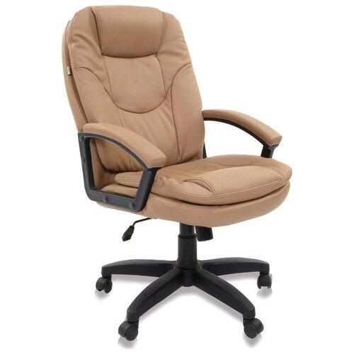 Компьютерное кресло Brabix Trend EX-568 для руководителя, обивка: искусственная кожа, цвет: бежевый компьютерное кресло tetchair барон обивка искусственная кожа цвет бежевый