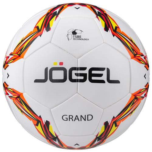 Футбольный мяч Jogel Grand белый/красный/желтый 5