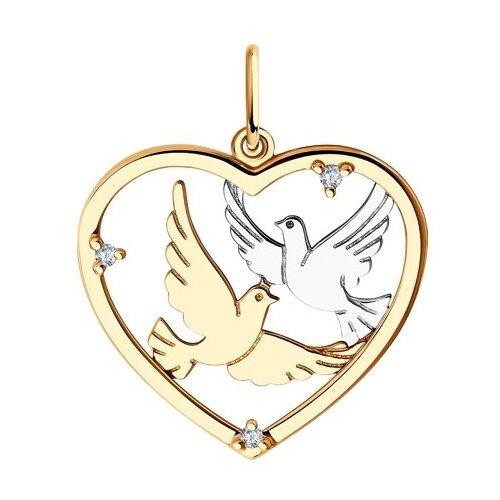 Diamant Подвеска из золота с фианитами 51-130-00874-1