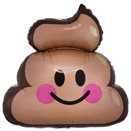 Воздушный шар Эмоции Смайлик Какашка, 63 см