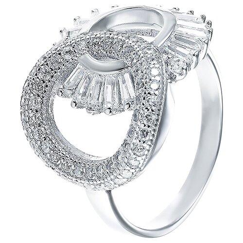 JV Кольцо с фианитами из серебра CAR2403-KO-001-WG, размер 16 jv кольцо с фианитами из серебра r27208 ko 001 wg размер 16