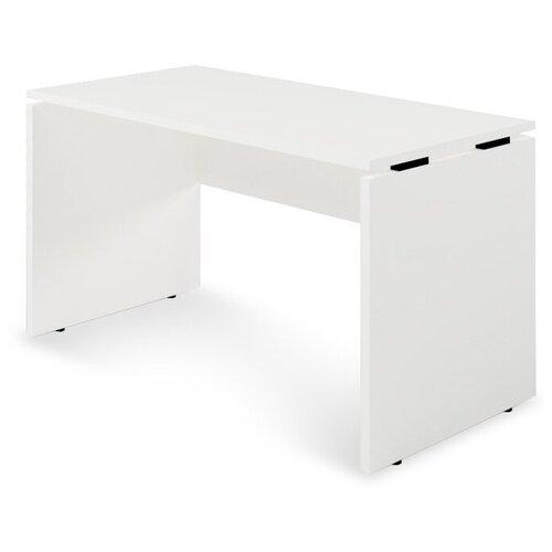 Письменный стол Zebrano SP1-11-11-2, ШхГ: 120х60 см, цвет: белый/черные проставки