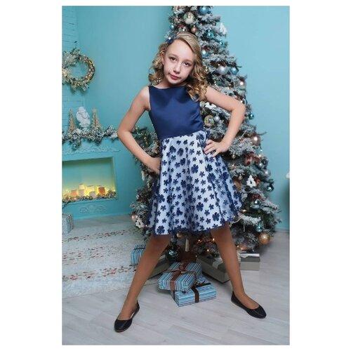 Купить Платье Ladetto размер 32-134, темно-синий, Платья и сарафаны