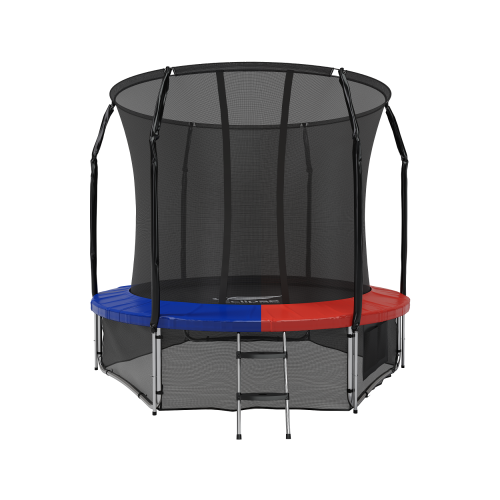 Каркасный батут Eclipse Space Twin 8FT 244х244х230 см blue/red каркасный батут oxygen fitness standard inside 8ft 244х244 см синий