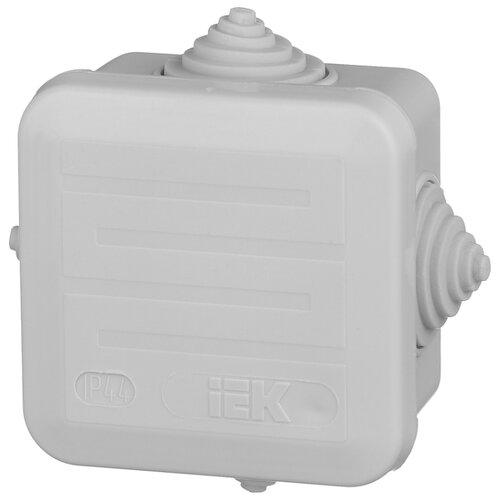 Распределительная коробка IEK КМ41236 наружный монтаж 70x70 мм серый RAL 7035