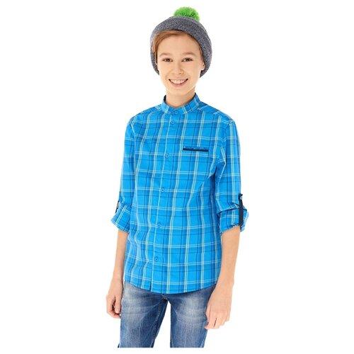 Купить Рубашка INFUNT размер 140, синий, Рубашки