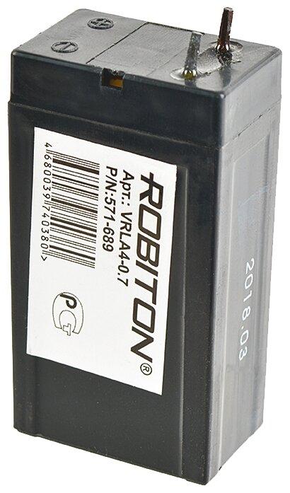 АКБ ROBITON VRLA4-0.7 (4 В, 0,7 Ач / 4V, 0,7Ah)