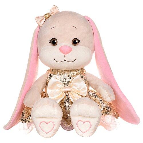 Купить Мягкая игрушка Jack & Lin Зайка Лин в золотом платьице с пайетками, 20 см, Мягкие игрушки