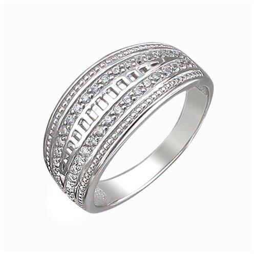Эстет Кольцо с 38 фианитами из серебра Л8К1519522, размер 17.5 ЭСТЕТ
