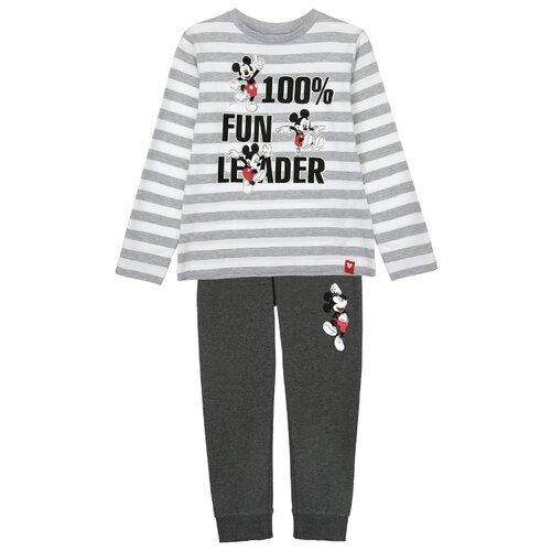 Купить Пижама playToday размер 122, серый/белый, Домашняя одежда