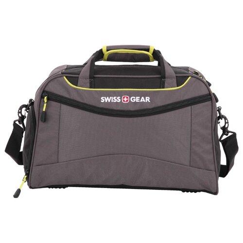 сумка планшет swissgear текстиль черный серый Сумка спортивная SWISSGEAR SA72614619, серый/салатовый