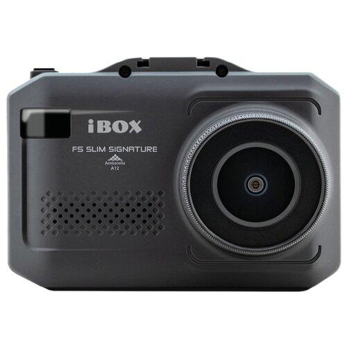 Купить со скидкой Видеорегистратор с радар-детектором iBOX F5 SLIM SIGNATURE A12, GPS, ГЛОНАСС черный