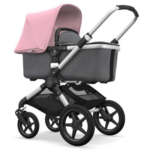 Купить Универсальная коляска Bugaboo Fox (2 в 1) Alu/Grey melange/Soft pink, цвет шасси: серебристый, Коляски