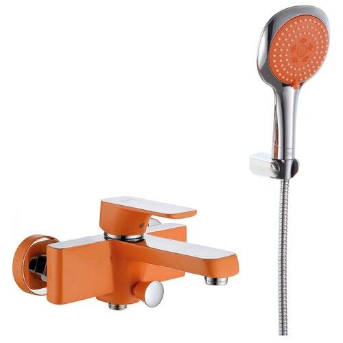 Душевой набор (гарнитур) D&K DA143321x оранжевый/хром душевой набор гарнитур argo 101