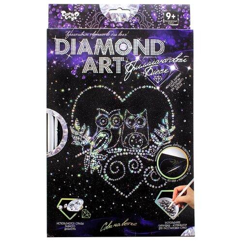 Купить Danko Toys Набор алмазной вышивки Diamond Art Совы на ветке (DAR-01-03), Алмазная вышивка