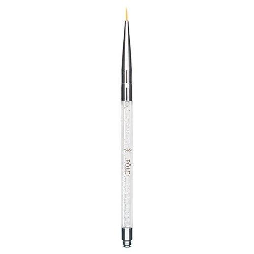 Кисть для дизайна ногтей №000 хрусталь Pole белый