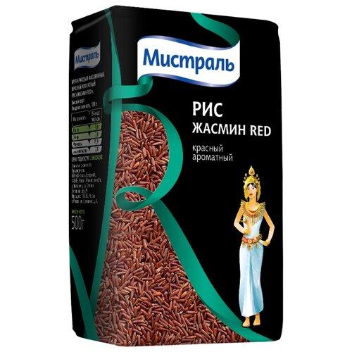 Рис Мистраль Жасмин Red нешлифованный длиннозерный 500 г мистраль рис жасмин мистраль 0 4 кг