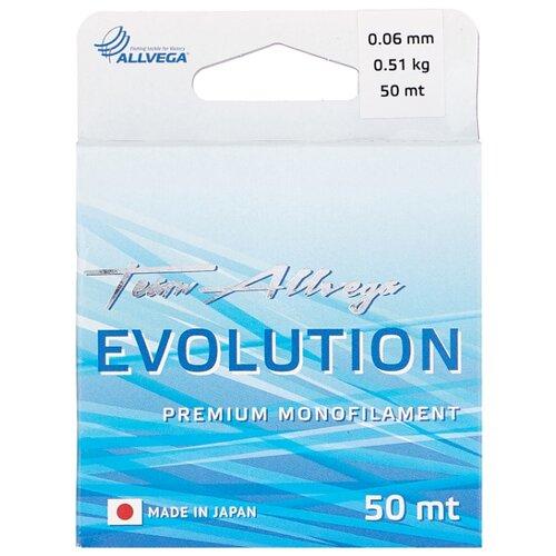 Монофильная леска ALLVEGA EVOLUTION прозрачный 0.06 мм 50 м 0.51 кг
