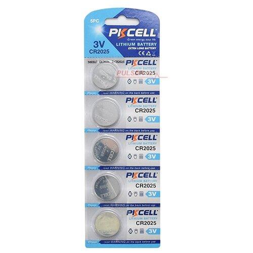 Батарейка PKCELL Lithium Button Cell CR2025 5 шт блистер