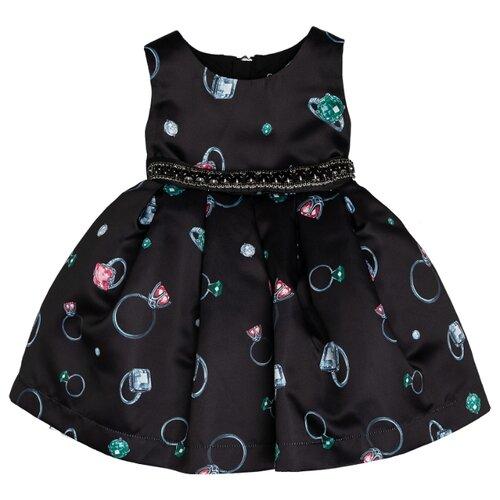Купить Платье Gulliver Baby размер 86, черный, Платья и юбки