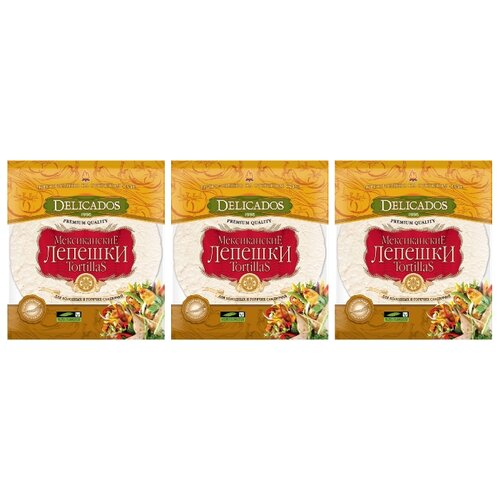 Delicados Лепешки Tortillas пшеничные бездрожжевые 3 шт 400 г