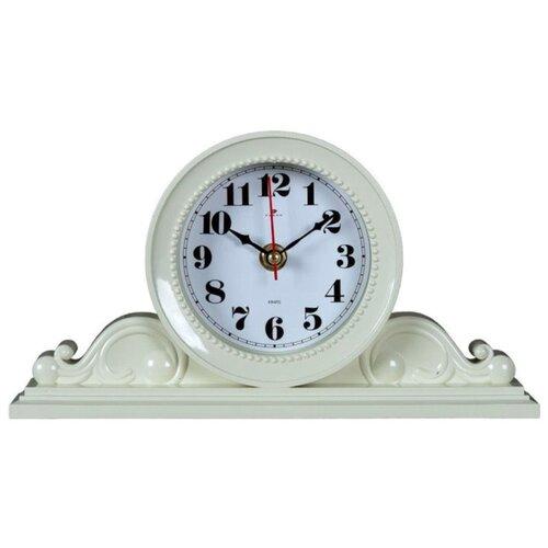 Часы настольные Классика 26х14 см, корпус слоновая кость, 2514-004 обеденные группы классика слоновая кость