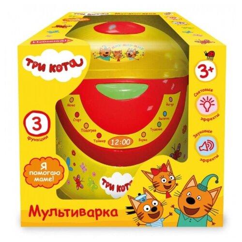 Купить Мультиварка Играем вместе Три кота B1327998-R желтый/красный, Детские кухни и бытовая техника