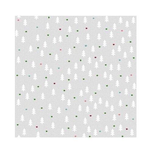 Ткань STOF PEPPY (P - W) для пэчворка 4497 фасовка 50 x 55 см 146±5 г/кв.м Елки/звездочки 026