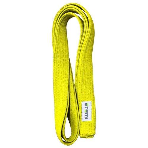 Пояс для кимоно ATEMI AKB02 280 см желтый