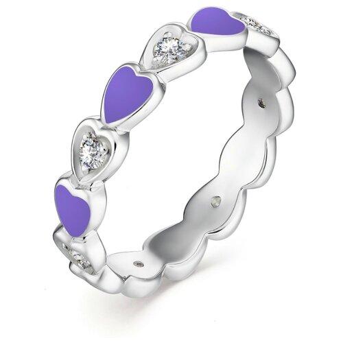 АЛЬКОР Кольцо с 7 фианитами из серебра 01-1304-ЭМ69-00, размер 18 алькор кольцо с 14 фианитами из серебра 01 1305 эм69 00 размер 18