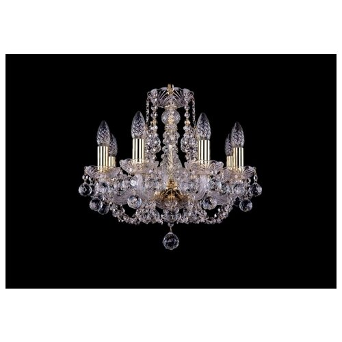 Люстра Bohemia Ivele Crystal 1406 1406/8/141/G/Balls, E14, 320 Вт подвесная люстра 1406 8 141 pa