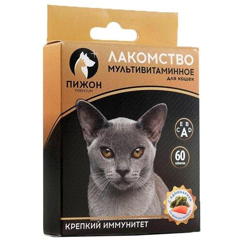 Лакомство для кошек Пижон Крепкий иммунитет, с ламинарией и форелью, 60шт. в уп.