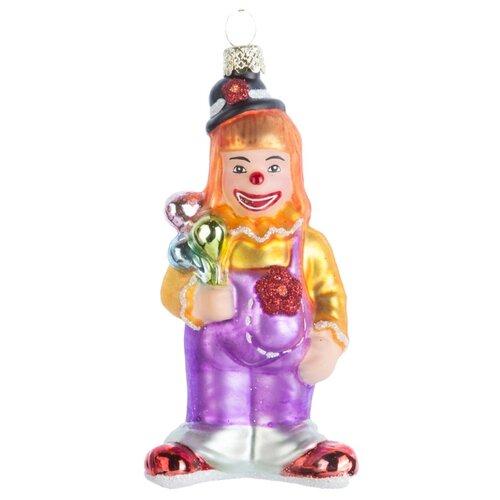 Набор елочных игрушек KARLSBACH Клоун 07218, фиолетовый