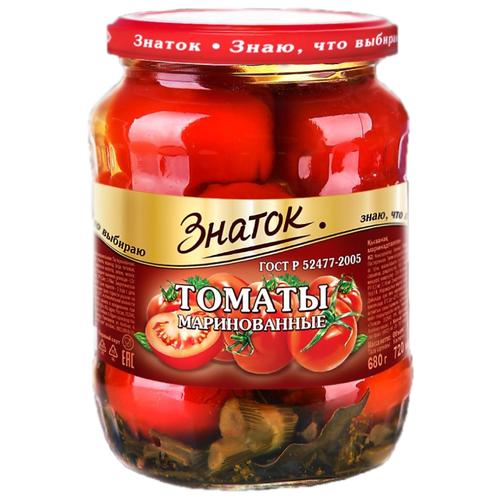 Томаты маринованные Знаток стеклянная банка 680 г томаты черри mikado маринованные