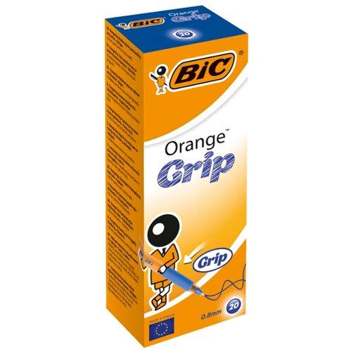 BIC Набор шариковых ручек Orange Grip, 0.8 мм (811926/811925), синий цвет чернил