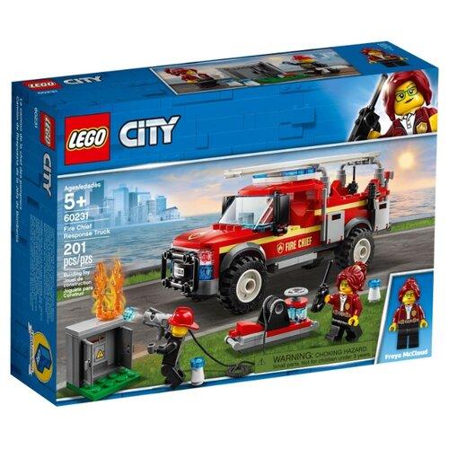 Конструктор LEGO City 60231 Грузовик начальника пожарной охраны конструктор city lego lego mp002xb00c9t