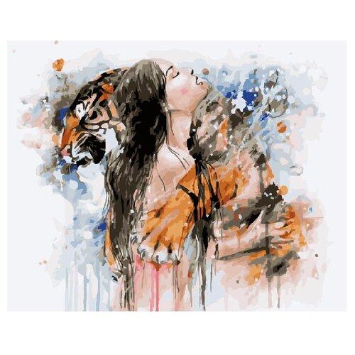 Купить ВанГогВоМне Картина по номерам Девушка с тигром , 40х50 (ZX 20537), Картины по номерам и контурам