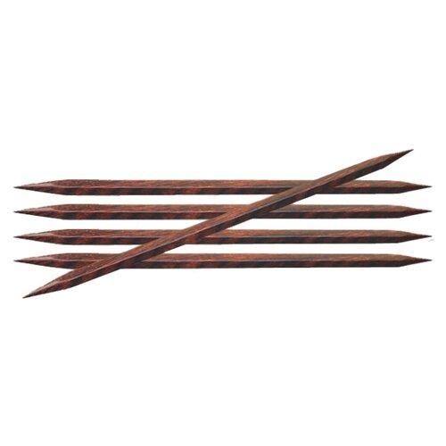 Купить Спицы Knit Pro Cubics 25105, диаметр 4 мм, длина 15 см, коричневый