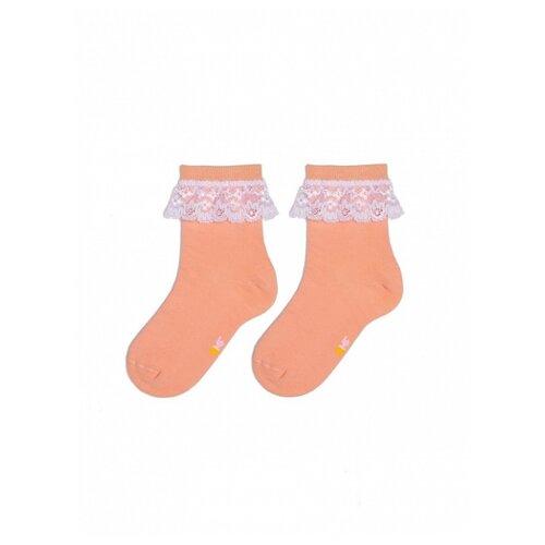 Носки КОТОФЕЙ размер 14, розово-оранжевый
