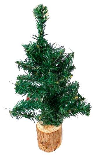 Новогодняя елка на деревянной подстаке, 45 см Новогодняя сказка